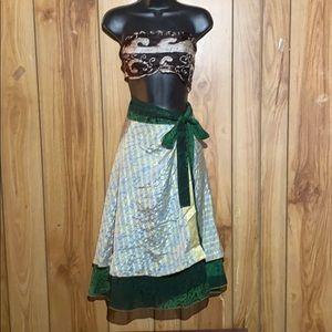 AzapazA Magic Wrap Silk Skirt from India
